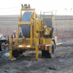 Tensioning Equipment for Two-Bundle Transmission Line in Edmonton, Alberta